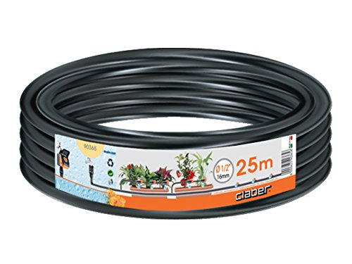 """Claber 50815 90365 Tubo Polietilene, 25 m da 1/2"""", Nero"""