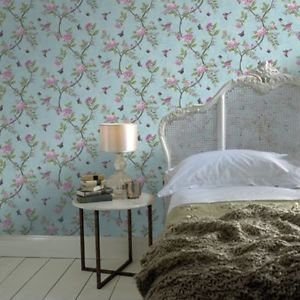 Graham and Brown Chinoiserie Wallpaper - Duck Egg by New A-Brend