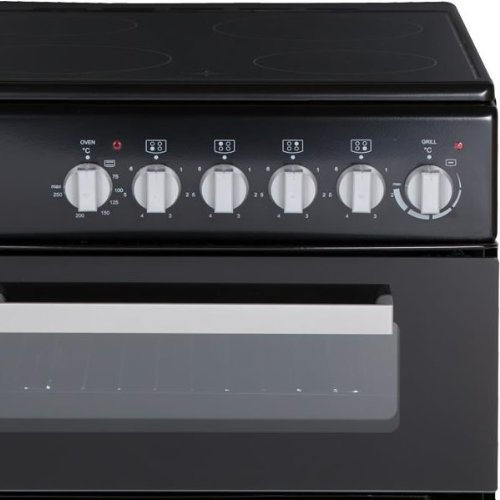 NWETC Electric Freestanding Double cavity with hob and internal grill in Black