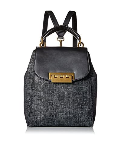 ZAC Zac Posen Women's Tweed Eartha Iconic Backpack, Black