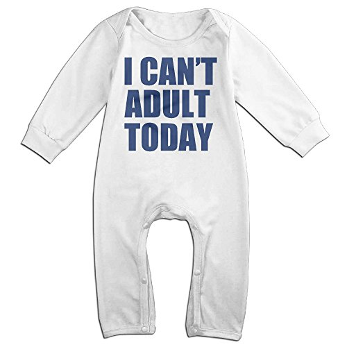 [ULEANDY I CAN'T ADULT TODAY Baby Romper Longsleeve Jumpsuit Costume 6 M] (Cyberchase Costumes)
