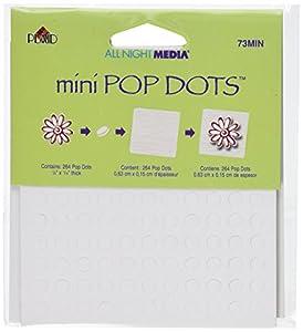 Plaid Mini Pop Dots 264/Pkg-White, 1/4-Inch