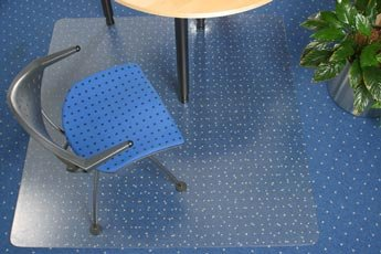 PVC Chair Mat for Carpets Rectangular 90x120cm. Clear. Delivered Free with a 100% Satisfaction Guarantee by Mats4U.