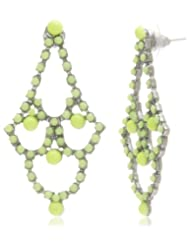 Addons Drop And Dangler Earring For Women (Green) (8903965226916)