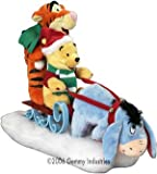Disney Animated Christmas Pooh, Tigger & Eeyore on Sled