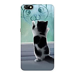 Cute Kitty Face Print Back Case Cover for Honor 4X