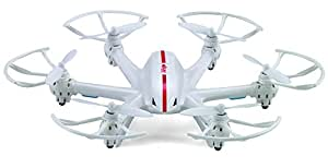 【生中継もスピード調節も可能!!】スーパーEX  生中継 カメラ付き ラジコン 高性能 マルチコプター ヘリコプター 空撮 WIFI iPhone アプリ 3D飛行 【ホワイト】 MI-X800-WH