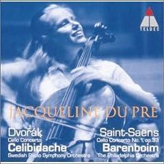 デュ・プレ(Vc) 、チェリビダッケ指揮、バレンボイム指揮 ドヴォルザーク&サン=サーンス:チェロ協奏曲の商品写真