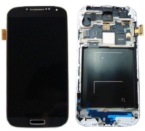 Generic Lcd Screen And Digitizer Touch Glass With Midframe Black Color For Galaxy S4 I9500