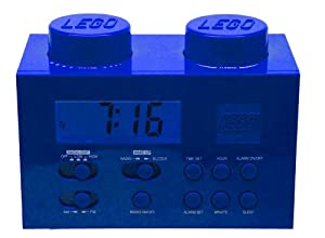 Lego Alarm Clock Radio - Blue from Digital Blue