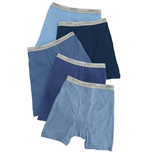 Hanes Boys' Boxer Brief B749B5, Assorted Solid Dyed Heathers