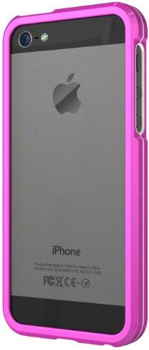 XtremeMac Aluminium Borders Schutzcase für Apple iPhone 5 (Aluminium-Rahmen) Pink