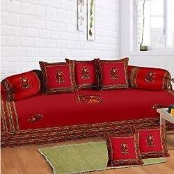 Hav 8 piece Diwan set- Red