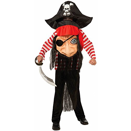 Big Face Buccaneer Pirate Kids Costume