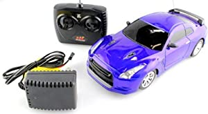 1:18 Scale Remote Control Full Function RC Nissan Skyline GTR Race Car with Rechargeable batteries