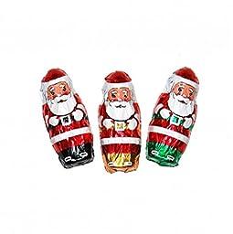 Christmas Mini Santa\'s Solid Milk Chocolate (1 Lb - 55 Pcs)