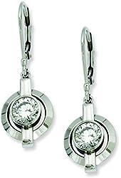 Titanium CZ Leverback Earrings