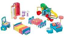 Hot Sale Dora Explorer Gift Set: Talking Doll House Furniture: Mama & Papi's Bedroom, Treehouse, Bathroom, Kitchen, & Living Room