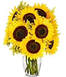 From You Flowers - Van Gogh\'s Starry Night Inspired Sunflower Bouquet - Premium (Free Vase Included)