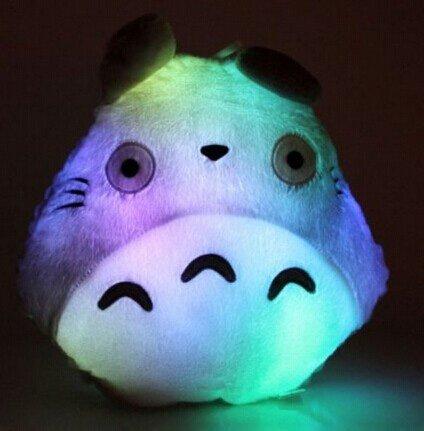 Dragonpad New Hot Totoro Shape Led Light Up Colorful Pillow