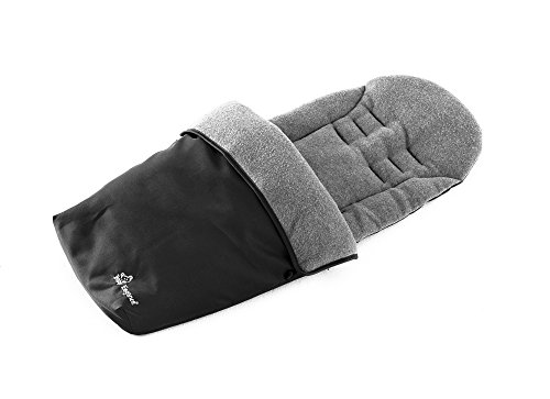 Baby Elegance Jersey Lined Footmuff, Black, Universal - 1