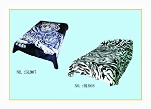 Reversible Microplush Raschel Mink Blanket-Designs:BL907&BL908 Size:King