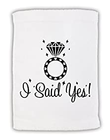 "buy Tooloud I Said Yes - Diamond Ring Micro Terry Sport Towel 11""X18"""