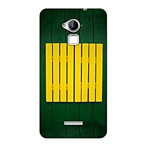 Premium Green Squares Yello Back Case Cover for Coolpad Note 3