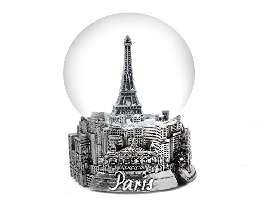 Paris France Eiffel Tower Snow Globe 65mm