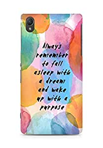 AMEZ always remember to fall asleep with a dream Back Cover For Sony Xperia Z2