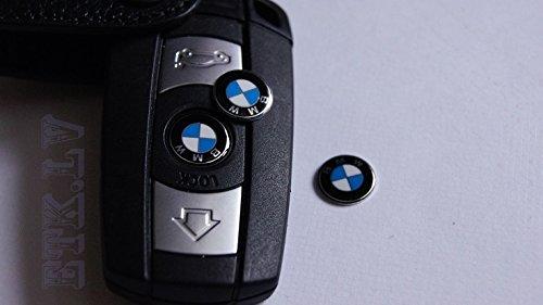 BMW Logo Chiave Stemma Telecomando BMW Serie 1 3 5 6 7 Metallo 11 mm (66122155754)