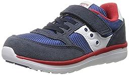 Saucony Boys Jazz Lite Sneaker (Toddler/Little Kid), Navy/Cobalt/Red, 5 W US Toddler