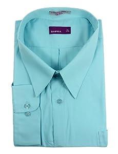 Men 39 s light teal blue button down dress shirt for Mens teal button down shirt