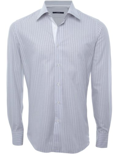Pal Zileri Men's Shirt Cotton Formal Semi-Fitted UK 17