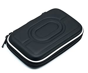 """Ramozz @ Schwarze 2.5"""" HDD Tasche Hartschale für tragbare Festplatte Case Doppelverschluss Cover"""