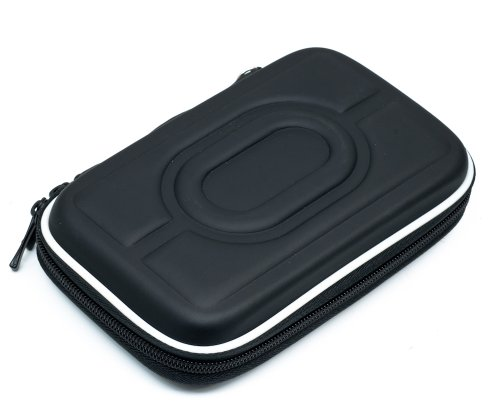 Black 2.5″ Hdd Bag Hardcase For Portable Hard Disk Drive Case Twin Zipper Cover