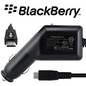 100% Genuine Blackberry Curve 9300 3G Micro USB In Car Charger ASY-18083-001