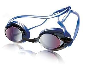 Speedo Junior Vanquisher Mirrored Swim Goggle, Blue/Smoke