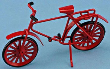 Dollhouse Red Bicycle - 1