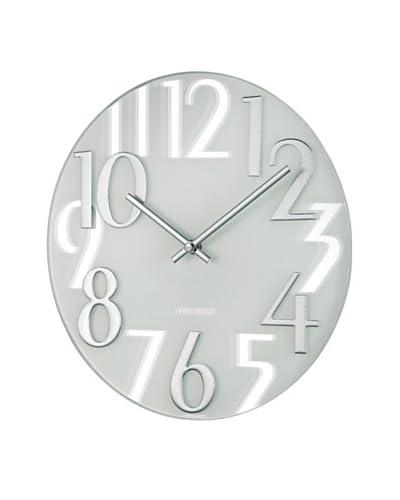 Mid Century Modern Mirrored Numbers Clock