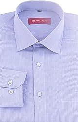 HASTINGS Men's Formal Shirt (V136_38, Blue, 38)