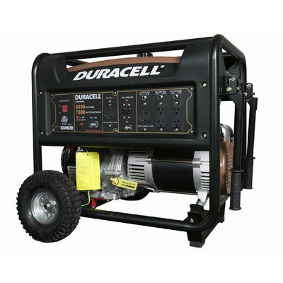 Duracell DG67M-R62 Gasoline Powered Generator with Kohler Recoiled Start Engine, 8000W