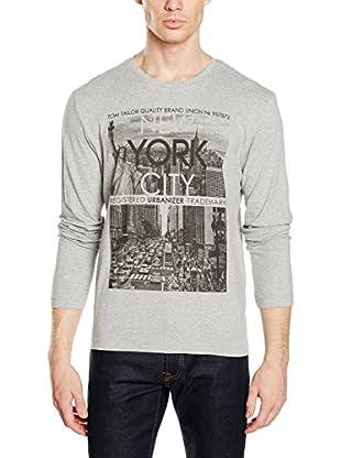 TOM TAILOR Camiseta Manga Larga (Gris Oscuro)