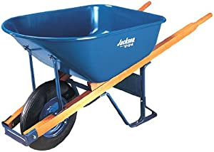 Jackson M6T22 6 Cubic Steel Tray Contractor Wheelbarrow With Front Braces
