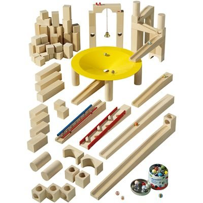 Master Building Set - Haba Ball Track Construction Set (77pieces)