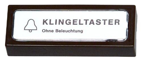 205206027 Klingelplatte Kunststoff, braun