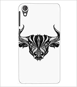 HTC DESIRE 820 BULL Designer Back Cover Case By PRINTSWAG