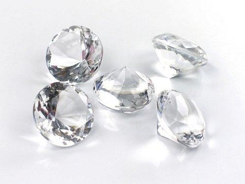 50-Dekosteine-Diamanten--20-mm-transparent-natur-klar-kristallklar-Tischdekoration-Streuartikel-Hochzeit-Taufe
