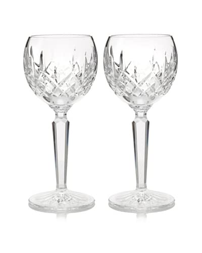 Waterford Pair of Lismore Hock Wine Glasses