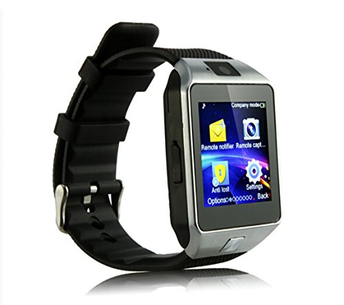 Yuntab SW01 Orologio Bluetooth SmartWatch fitness dell'involucro del polso orologio cellulare con Touch Screen Fotocamera per iPhone Samsung HTC LG Android carta smartphone Phone SIM (Nero)